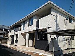 岡山県岡山市南区藤田の賃貸アパートの外観