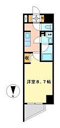 エルスタンザ徳川[7階]の間取り