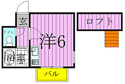 松戸カサベラ六番館[202号室]の間取り