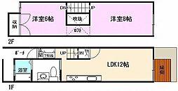KITANO HOUSE[C号室]の間取り