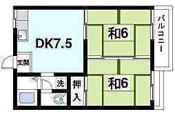 メゾン松塚[1階]の間取り