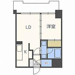 トミイビルNo.39[8階]の間取り