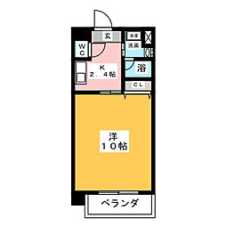 HIRO日比野[2階]の間取り