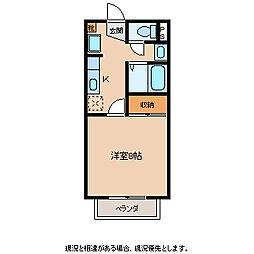 張原JSK[2階]の間取り