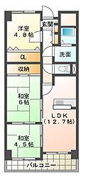 クラウンハイム千代川[9階]の間取り