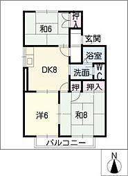 コーポ森[2階]の間取り