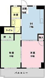 千葉県浦安市北栄3の賃貸マンションの間取り