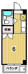 コ−ジ−ハイツ百万遍[2階]の間取り