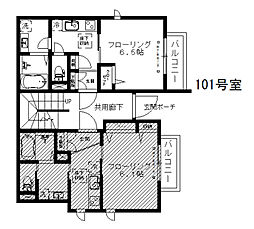 シャーメゾン渋谷イースト 1階1Kの間取り