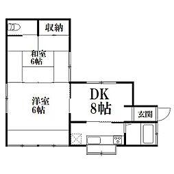 [一戸建] 静岡県浜松市中区中沢町 の賃貸【/】の間取り