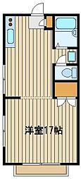 東京都練馬区石神井台5の賃貸アパートの間取り