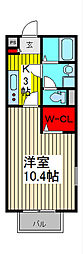 埼玉県さいたま市南区四谷3-の賃貸アパートの間取り