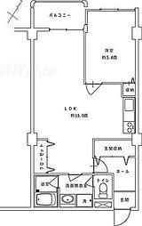 ルグラン横浜[3階]の間取り