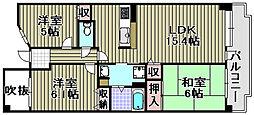 メゾンドール・ラーバン和泉2番[7F号室]の間取り