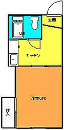 弥生ハウス[203号室]の間取り