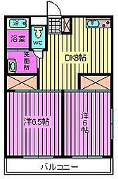 埼玉県さいたま市北区東大成町2丁目の賃貸マンションの間取り