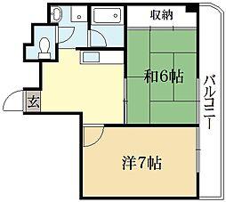 カーサ大石[3階]の間取り