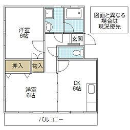 大塚公園マンション I[107号室号室]の間取り