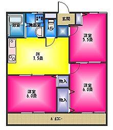 ユウハウス ラバンテ[2階]の間取り