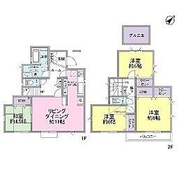 [一戸建] 神奈川県川崎市多摩区栗谷2丁目 の賃貸【/】の間取り