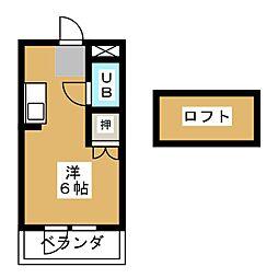 ハイツ尾洲[4階]の間取り