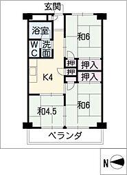 愛宕住宅[8階]の間取り