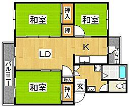新金岡第7次住宅[5階]の間取り
