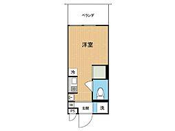 Hana house−Maezima(L) 7階ワンルームの間取り