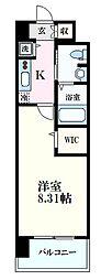 LiveCasa昭和町 3階1Kの間取り