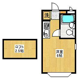 セゾンフローラA[104号室]の間取り