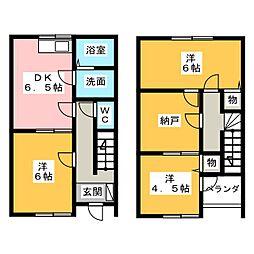 [テラスハウス] 静岡県袋井市村松 の賃貸【/】の間取り