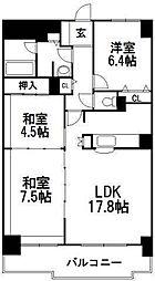 北海道札幌市中央区北四条西19丁目の賃貸マンションの間取り