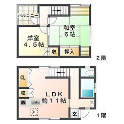 [一戸建] 兵庫県神戸市垂水区霞ケ丘7丁目 の賃貸【/】の間取り