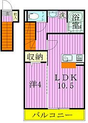 ティアラ新鎌II[2階]の間取り