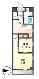 ドゥ・カンパーニュ[3階]の間取り