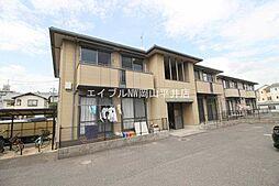 岡山県岡山市中区兼基の賃貸アパートの外観
