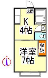 池田コーポI[103号室]の間取り