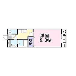 兵庫県加古川市平岡町西谷の賃貸アパートの間取り
