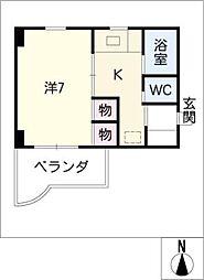 ユングハイム小幡[2階]の間取り