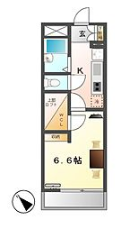 レオパレス小本本町[4階]の間取り