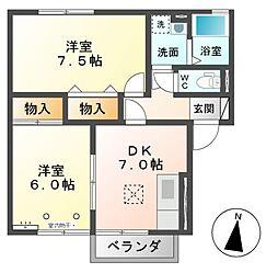 トミユウ・ボラタ B[1階]の間取り
