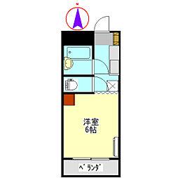コーポ大桜II[607号室]の間取り
