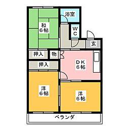 浅井マンション[2階]の間取り