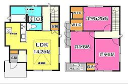 [一戸建] 埼玉県所沢市けやき台2丁目 の賃貸【/】の間取り