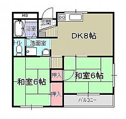 河西マンション[208号室]の間取り