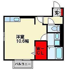 トレス中間参番館[2階]の間取り