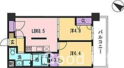 コンダクト福岡東[3階]の間取り