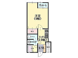 ROOMS ISHIZAKI 21[106号室]の間取り