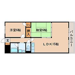 ファミーユ南高田[102号室]の間取り