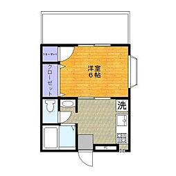 東京アパートメント[301号室]の間取り